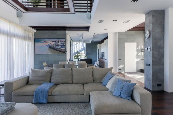 Пример дизайн интерьера квартиры 76 кв.м в стиле минимализм Черновцы