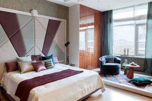Пример дизайн интерьера спальни в стиле арт-деко Черновцы