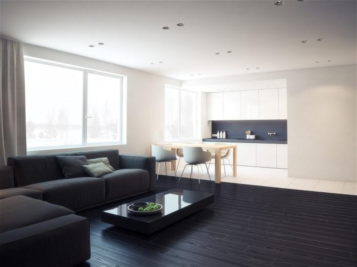 Пример дизайн интерьера спальни в стиле минимализм Черновцы
