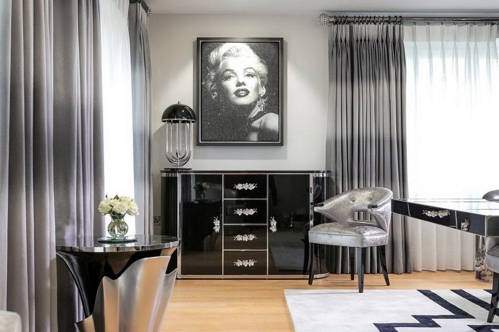 Пример дизайн интерьера гостиной в стиле арт-деко Черновцы