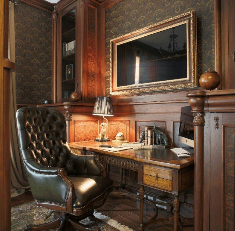Пример интерьера рабочего кабинета в классическом стиле Черновцы 2