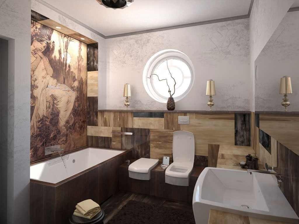 Пример дизайн интерьера ванной в стиле арт-деко Черновцы