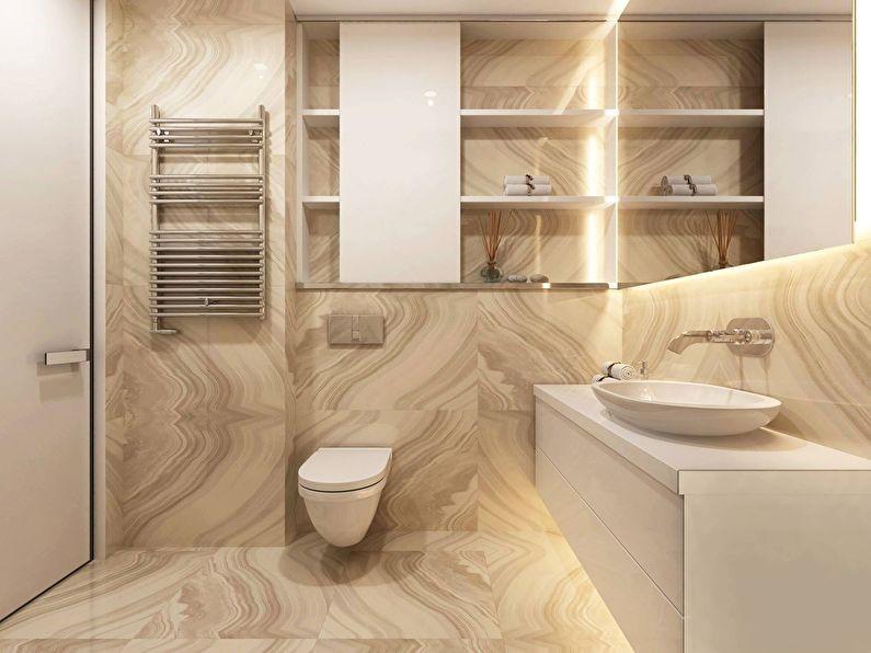 Пример дизайн проекта ванной в стиле модерн Черновцы 1