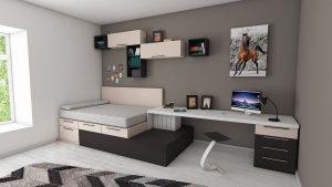 Пример дизайн интерьера детской спальни в стиле хай-тек Черновцы