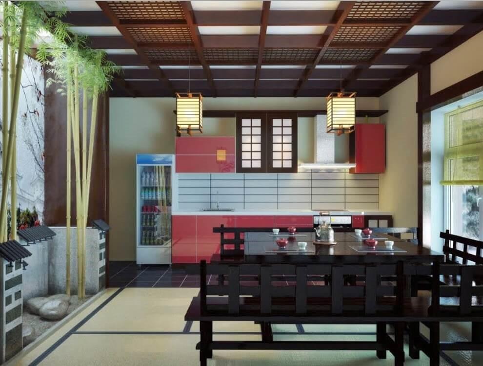 Пример дизайн проекта кухни в японском стиле Черновцы